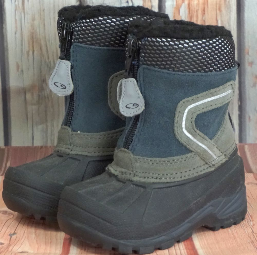 c7f531aae CHAMPION THERMO LITE Toddler Suede Blue Black Winter Snow Boots Shoes 5  Used  Champion  Boots