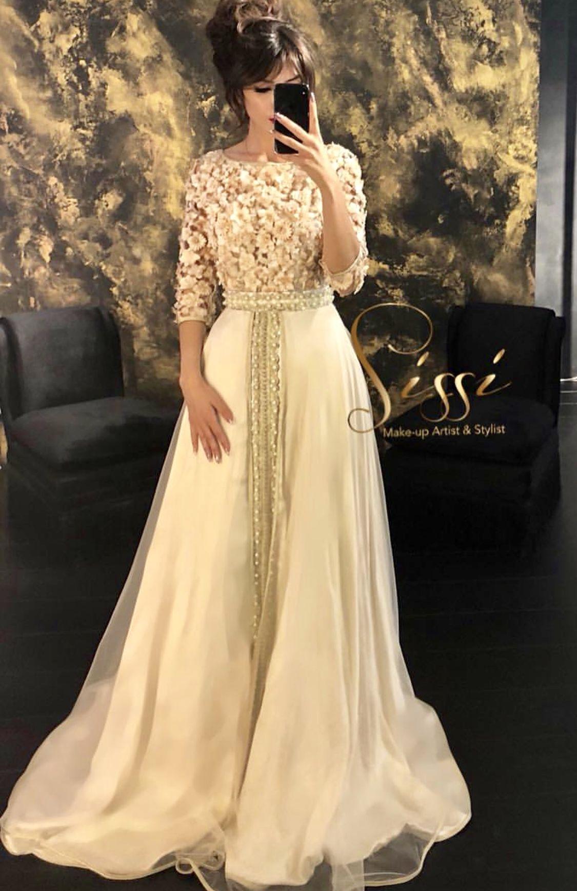 Robe cafton  Morrocan dress, Wedding dress couture, Moroccan dress