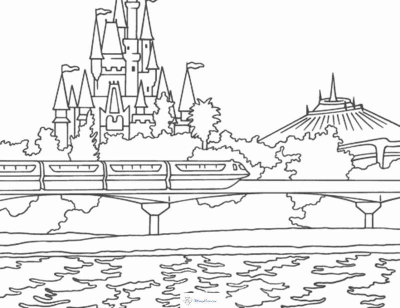 Disney Castle Coloring Page Best Of Castles Coloring Pages In 2020