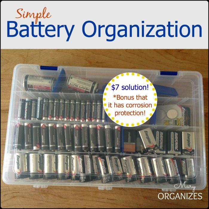 Simple Battery Organization Creatingmaryshome Com Organization Storage And Organization Storage Organization