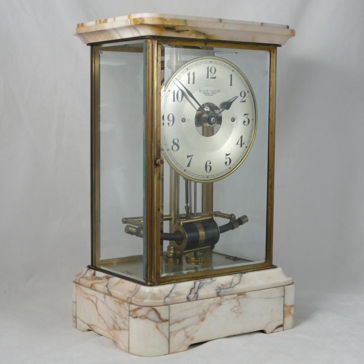Horloge De Bureau Originale pendule bulle clock art déco., autrefois en gascogne