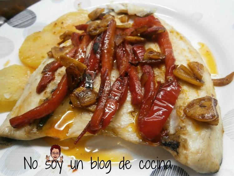 No Soy Un Blog De Cocina Lubina A La Espalda Con Pimientos