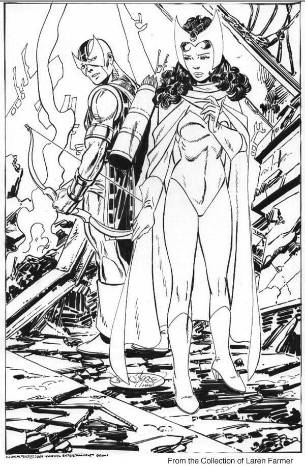 Scarlet Witch and Hawkeye by John Byrne * | John Byrne Art ...