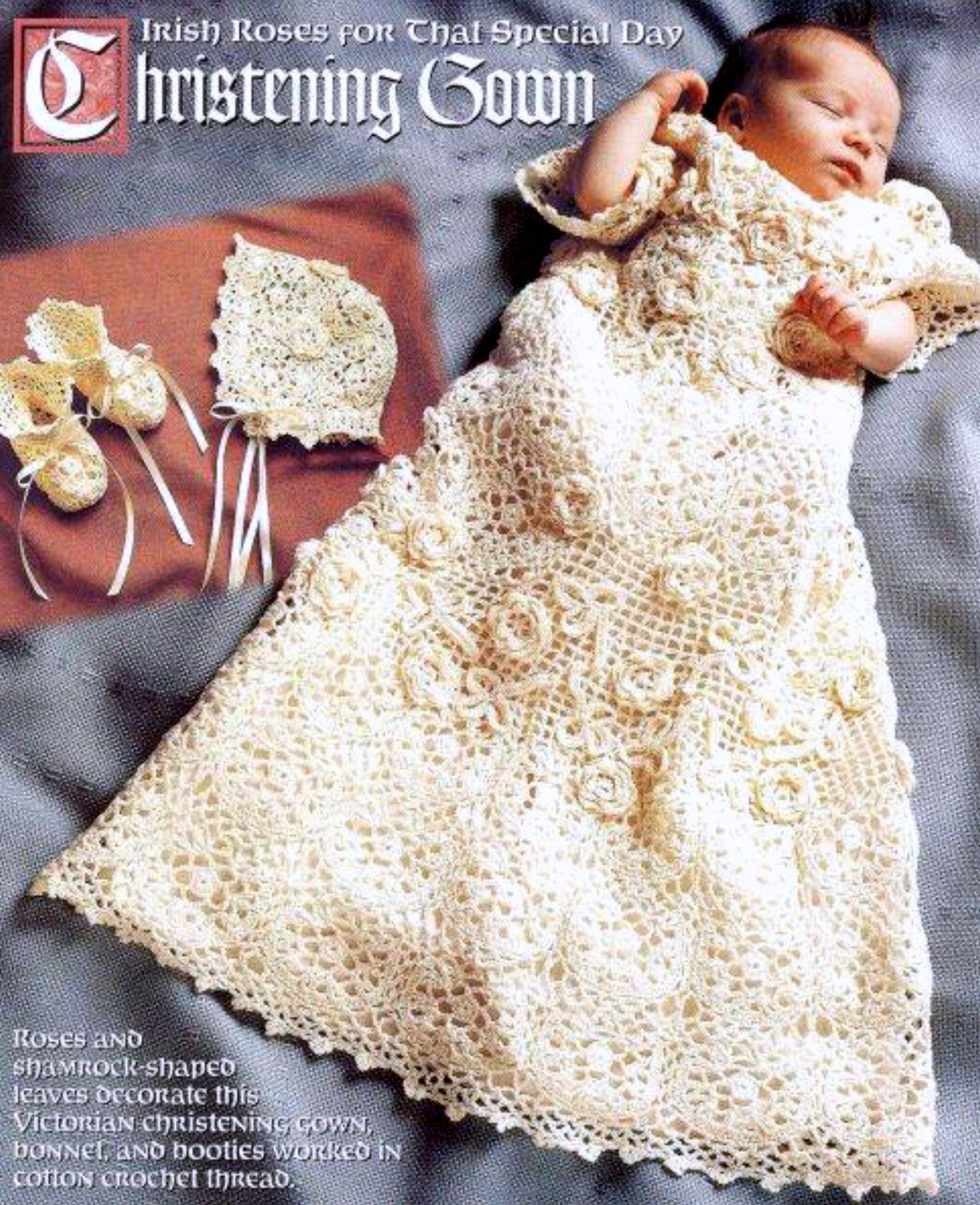 Bonnet Vintage Crochet Pattern ~ Baby/'s Dress Bootees