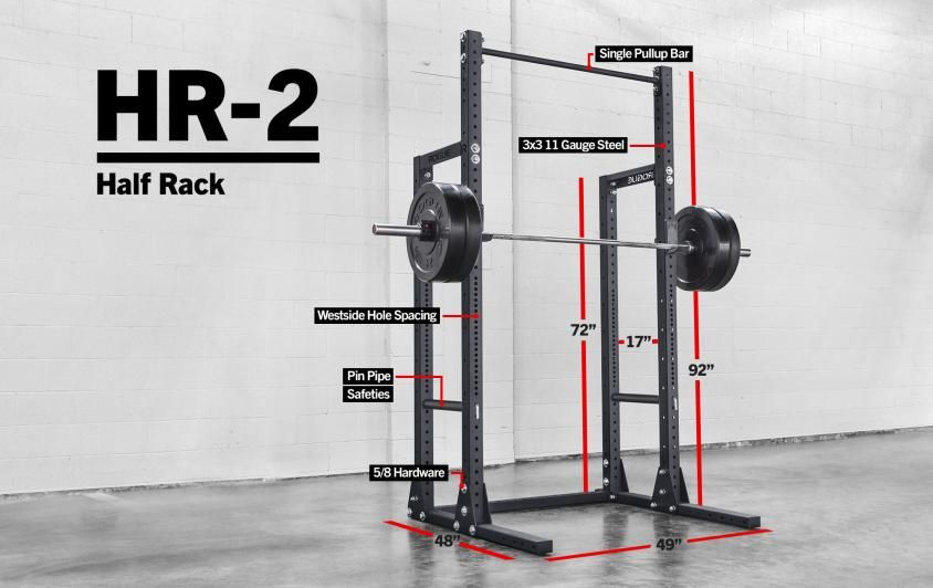 The Customizable Rogue Hr 2 Half Rack Can Be Installed As A Stand Alone Unit Or By Converting An Existing Monster Lite Series Squat Stand See It Tren Proyectos