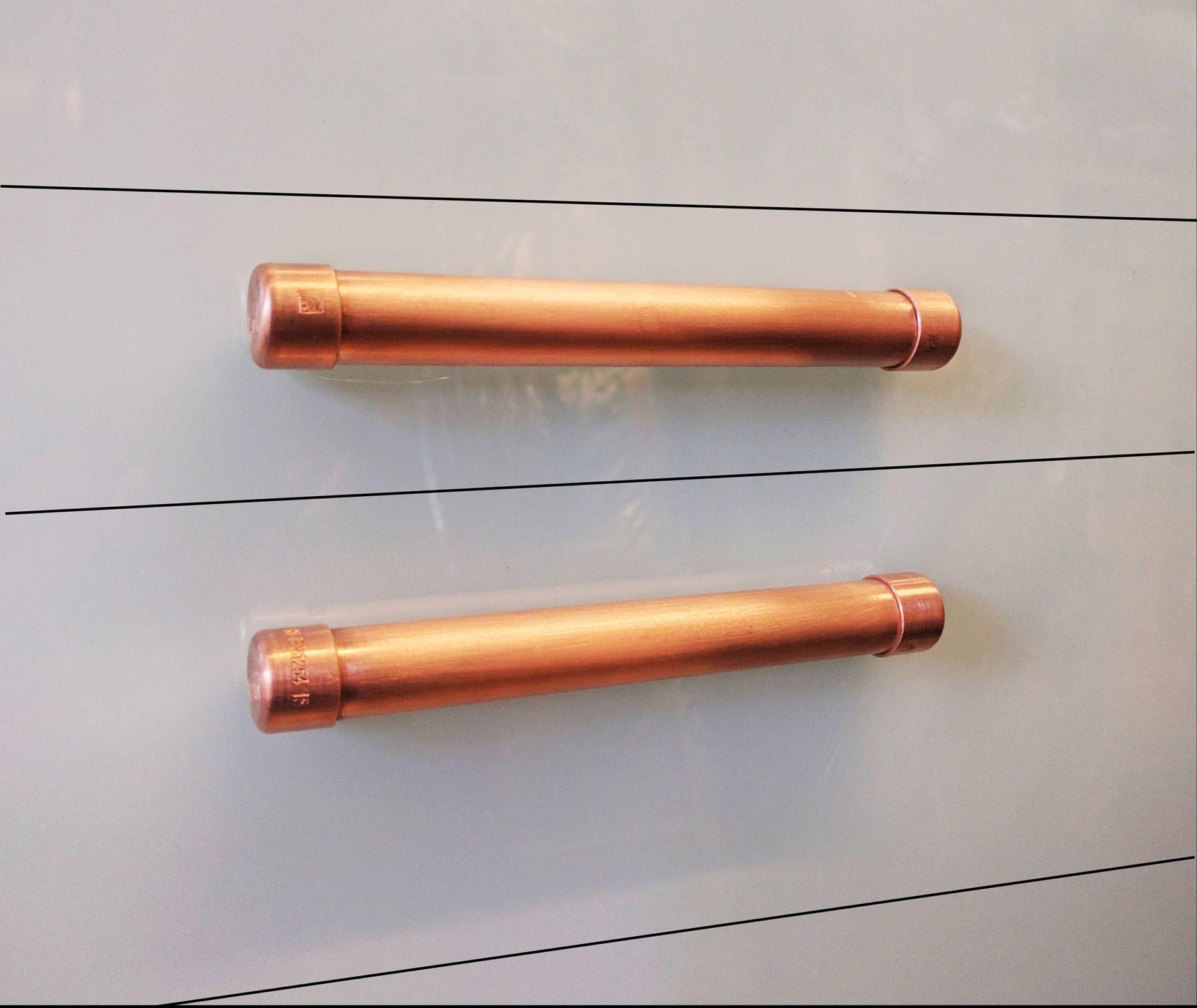 Modern Copper Bar Pull Handle Cabinet Hardware Pull Handle Bar Custom Kitchen Door Handles Review