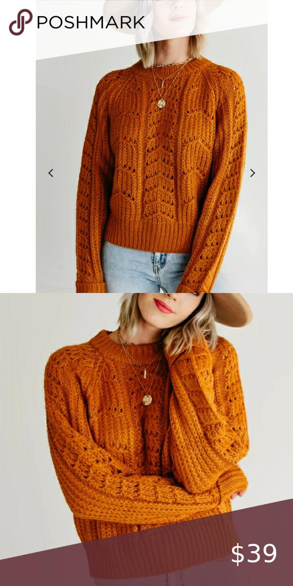 Beautiful Loose Knit Mustard Sweater 🧡🧡