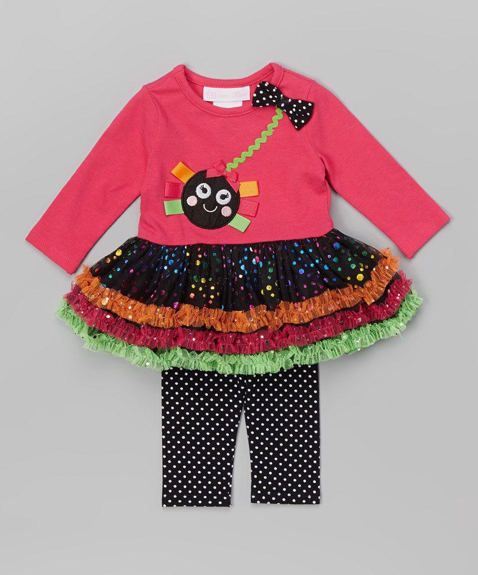 Love this Gerson & Gerson Fuchsia Spider Tutu Dress & Leggings - Infant, Toddler & Girls by Gerson & Gerson on #zulily! #zulilyfinds