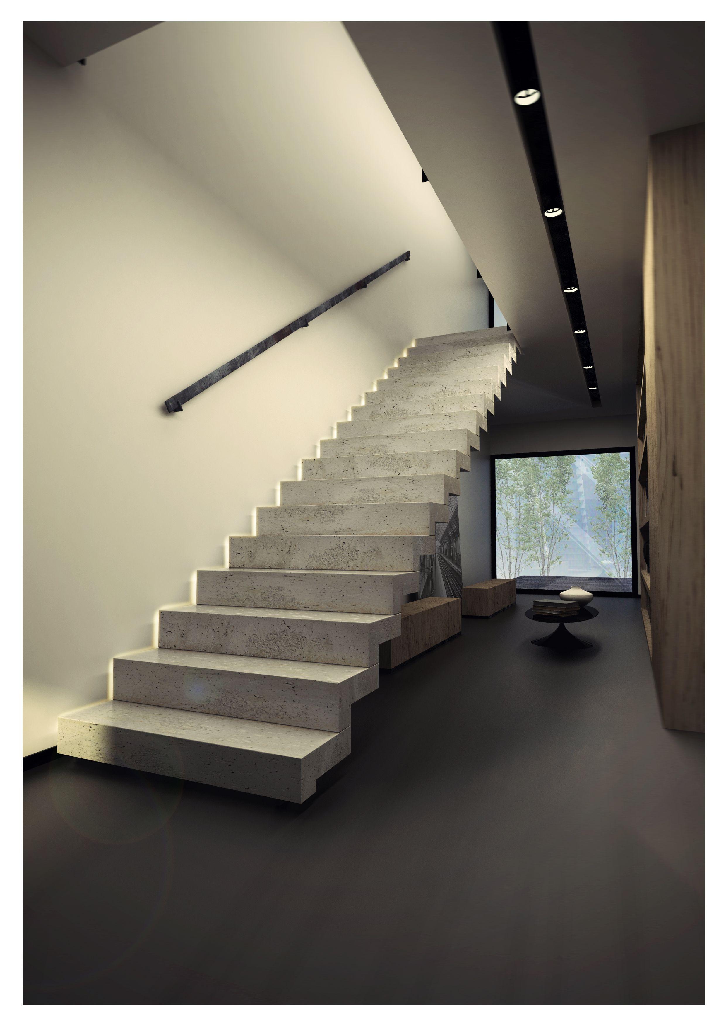 Escalier beton kozac haus pinterest escalier beton beton et escaliers - Escalier beton moderne ...
