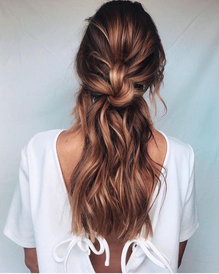 26 Hairstyles For Bridesmaids Of All Hair Types Casual Hairstyles Hair Styles Easy Casual Hairstyles