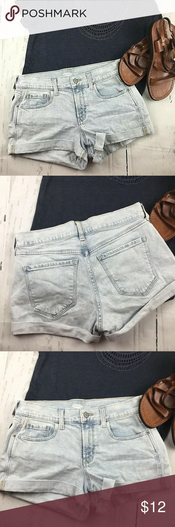 Old navy light blue Shorts size 2 Old navy light blue cuffed leg spandex denim boyfriend shorts Sz 2. Condition is Pre-owned. Shipped with USPS Priority Mail.  I sell on multiple apps so items sell quicker make an offer if interested. Old Navy Shorts Jean Shorts #lightblueshorts