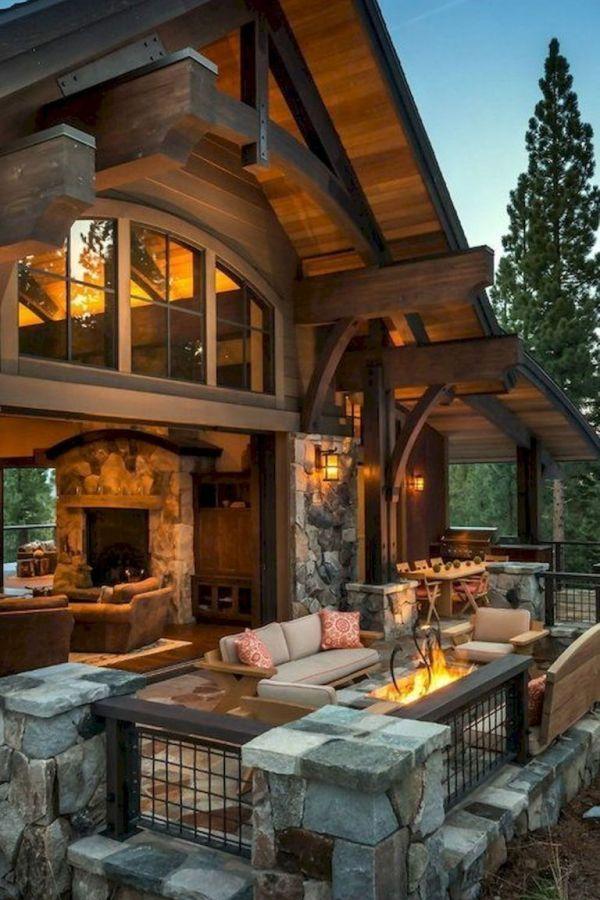 Amazing Log Cabin Homes Modern Design Ideas 25
