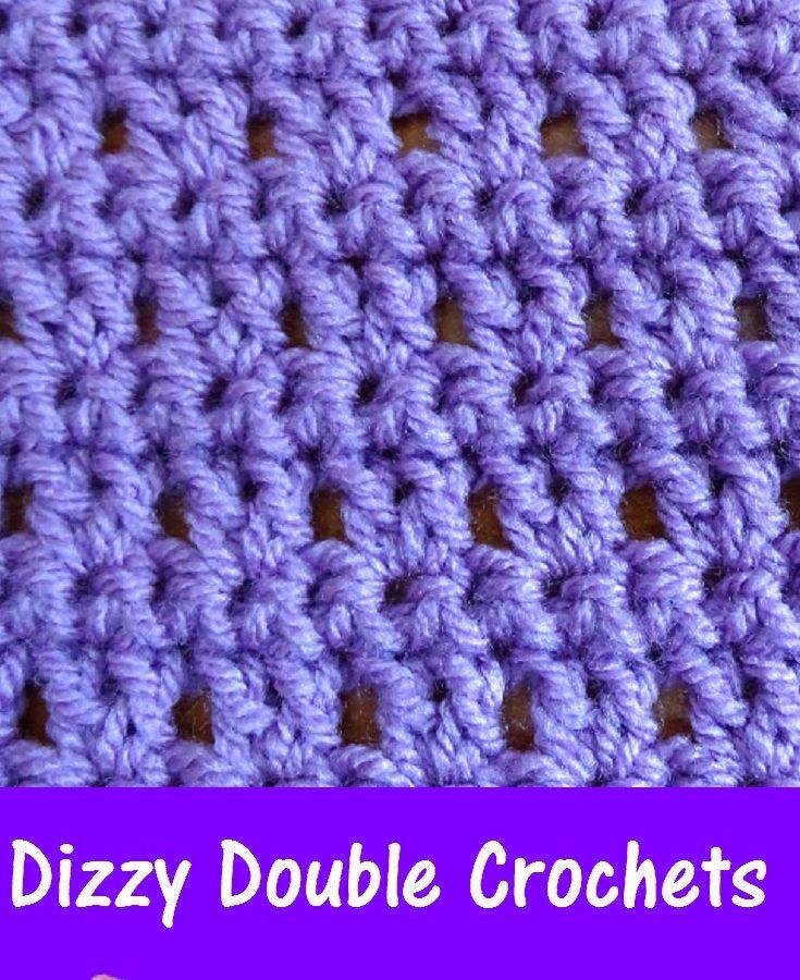Dizzy Double crochets – Free Crochet Pattern | Crochet stitches ...