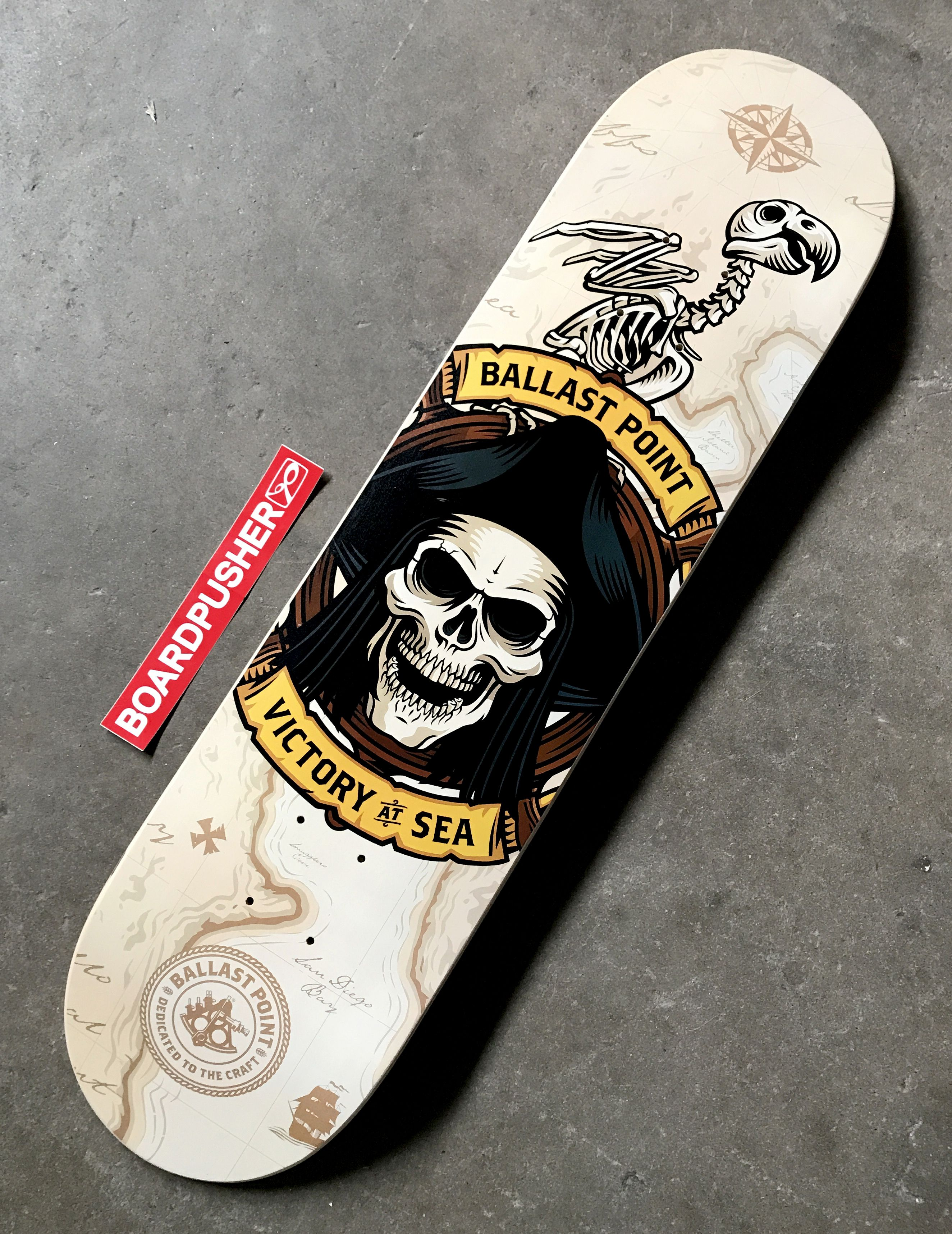 Boardpusher Com Custom Skateboards Featured Deck Of The Day Created By Train Design For Ballast Point Brewing Click Th Custom Skateboards Ballast Point Design