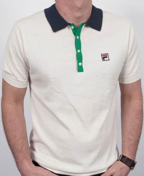 38dddce5559 Fila Santiago Sanah Polo Shirt Off White