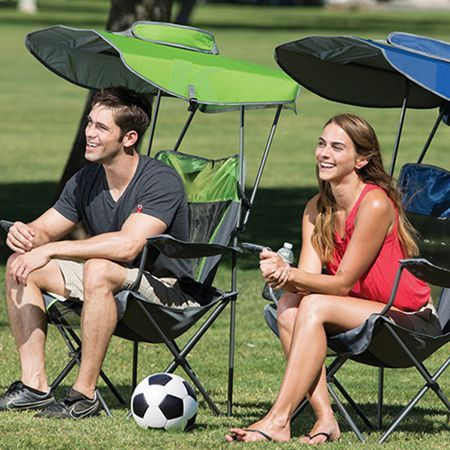 The Kelsyus Canopy Chairs are great for watching the game, a day at the park, or even a  backyard barbecue. #Kelsyus