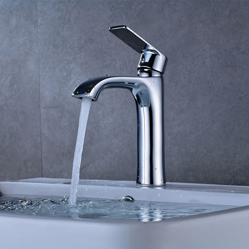 Badarmatur Wasserhahn Waschtisch Mischbatterie Einhebelmischer Waschbecken  Chrom