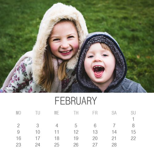 Month by Month 2015 Calendar Template for Photoshop - Christmas Gift Idea for Photographs