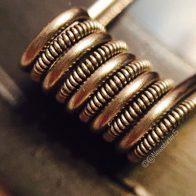 30/32g clapton parallel 22g wrapped 5x around 3/32 screwdriver. All ...