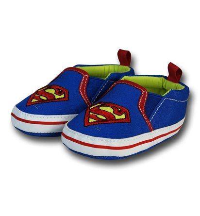 Superman Symbol Soft Slip-On Infant Shoes