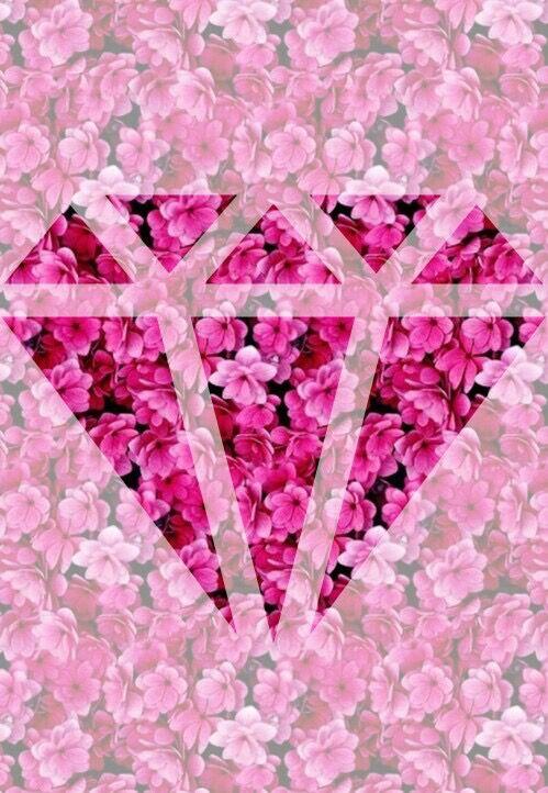 Imagen de diamond, flowers, and pink