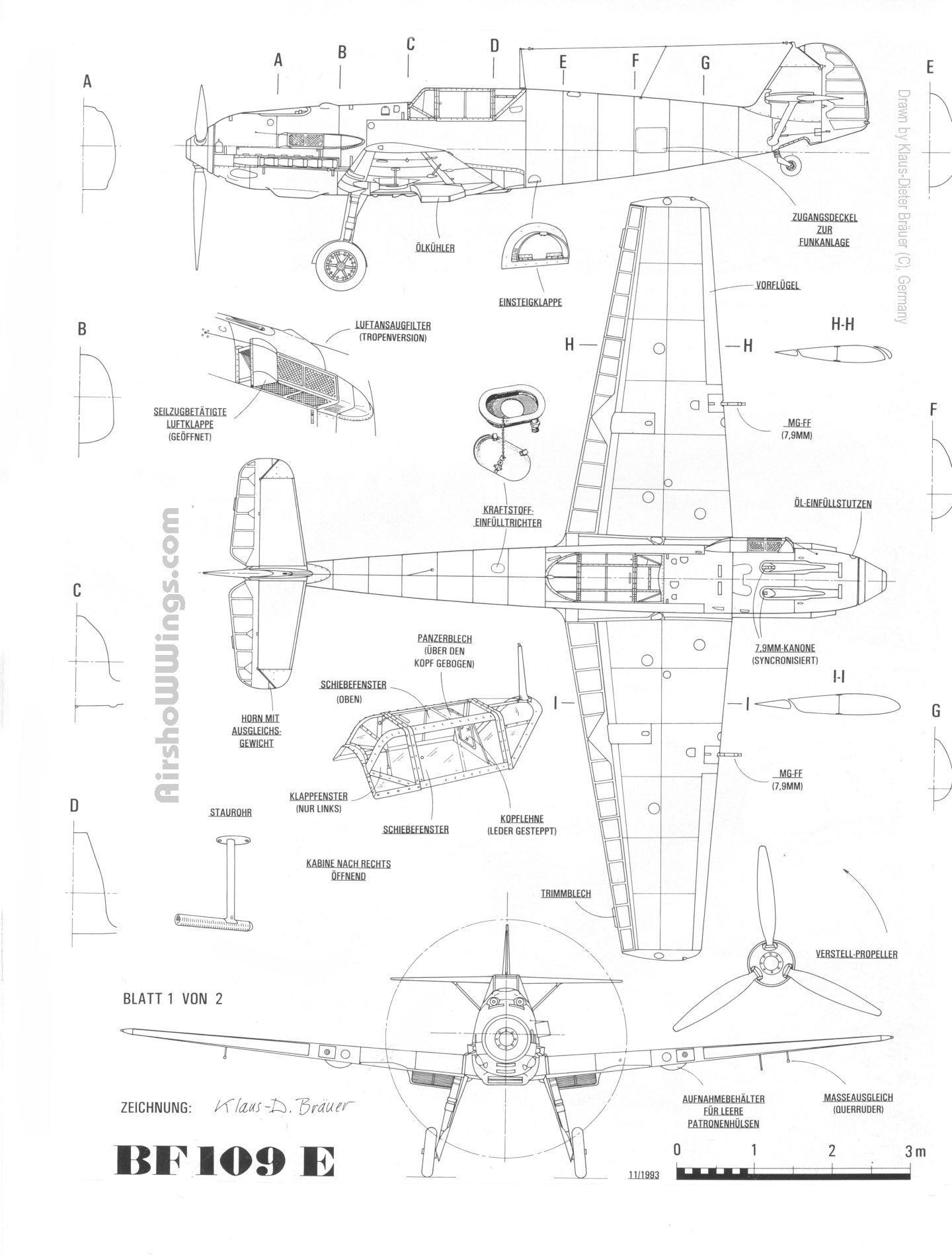 Aircraft  Messerschmitt Bf-109e  1939
