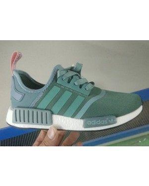 2db895a74 ... reduced womens adidas originals nmd runner primeknit green white adidas  nmd 5e15f ed76c