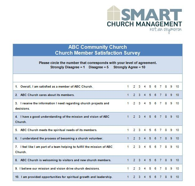 Example questions to ask in a church member survey Church ideas - example of survey form