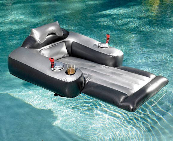 Motorized lounge chair pool float this one you drive for Motorized lounge chair pool float