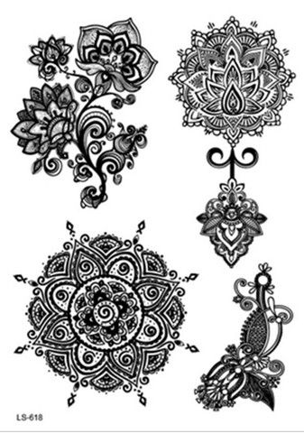 Aponi Black Henna Mandala Temporary Tattoo Maybes 4 My