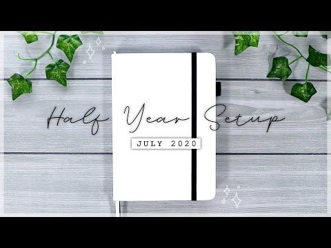 NEW Bullet Journal Half Year Setup // JULY 2020