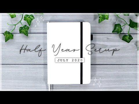 NEW Bullet Journal Half Year Setup // JULY 2020