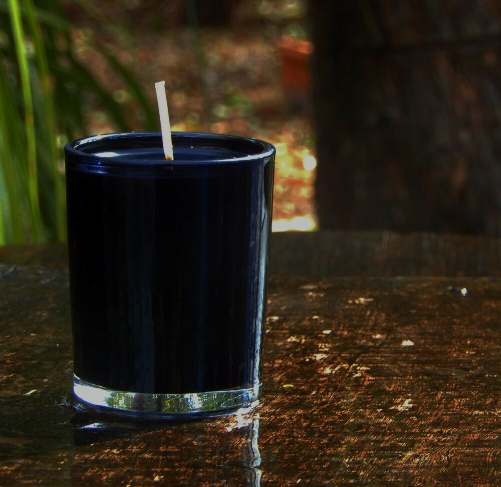 40hr Luxurious VANILLA CASHMERE Strong Scented ECO SOY Glass Jar Votive Candle