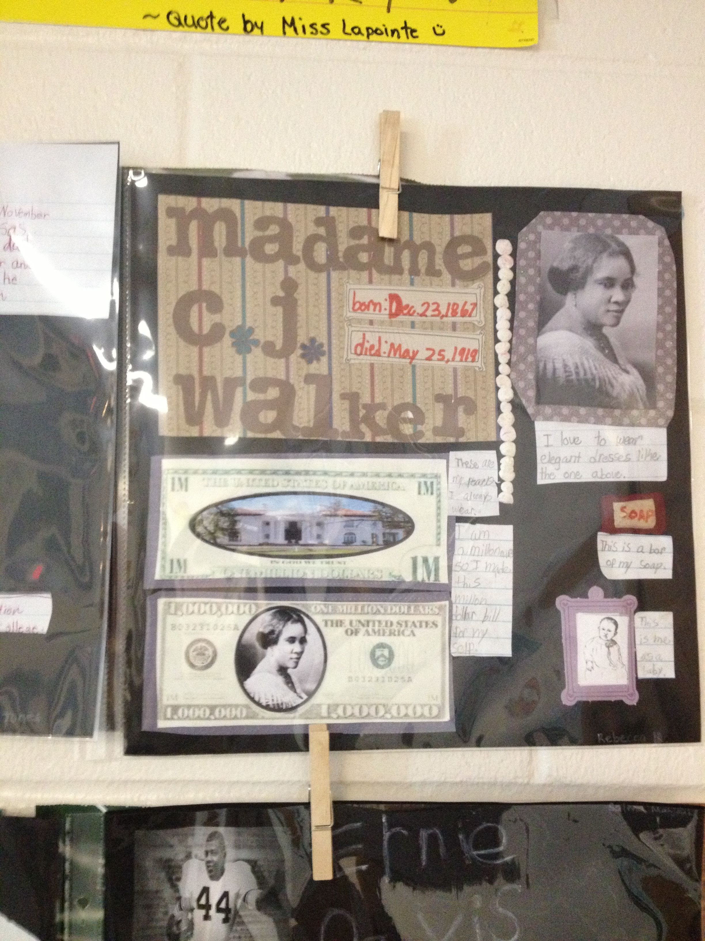 Scrapbook ideas history projects - Had My Students Do A Scrapbook Black History Project Each Student Was Given A 12x12