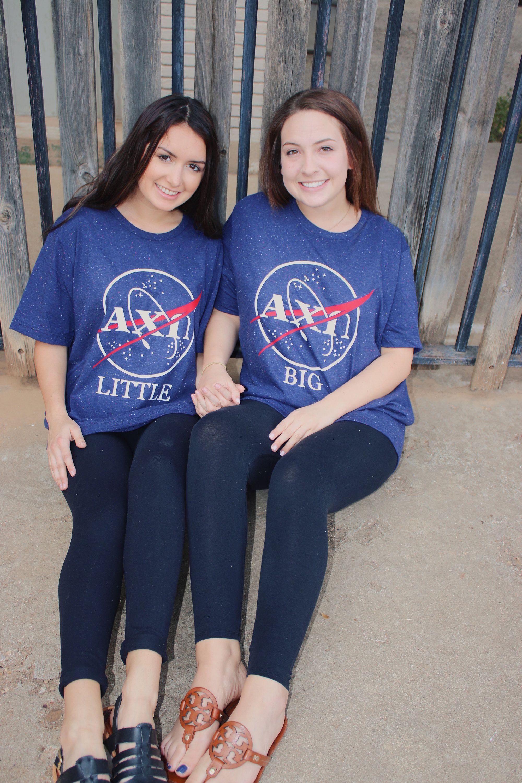 c66e5ec3abe6a Big Little Reveal T-shirts, Sorority Big Little, NASA Shirt ...