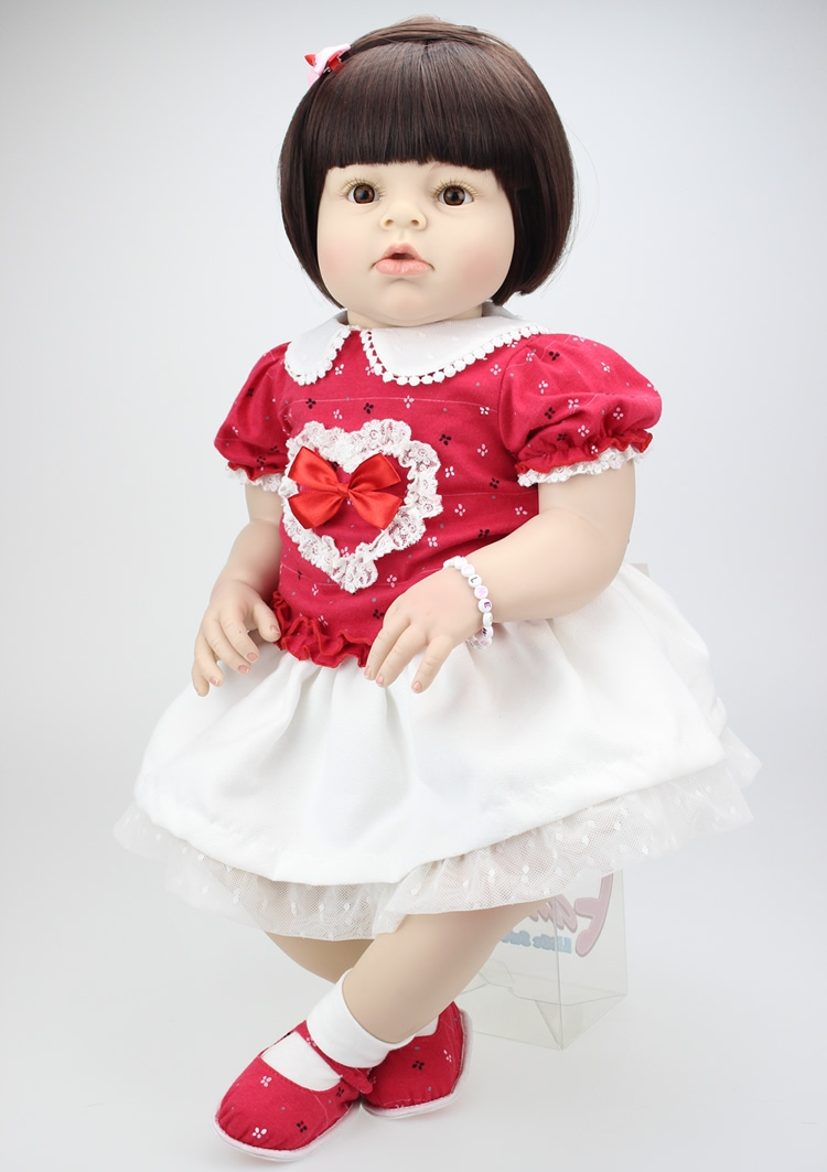 (139.02$)  Buy here - http://ai0w9.worlditems.win/all/product.php?id=32443544524 - 70cm Silicone Reborn Baby Doll lifelike Big Size Baby Reborn Doll Toy Infant Clothing Model Girls Brinquedos Birthday Gifts