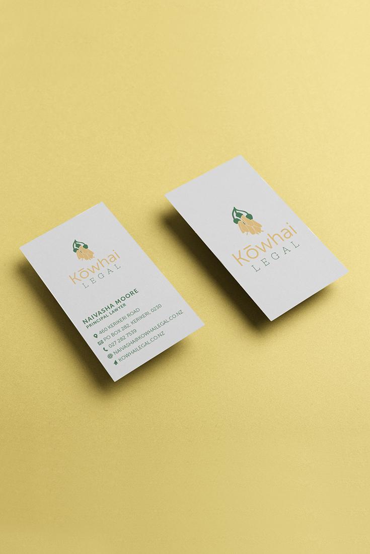 Kowhai Legal Business Card Design Loyalty Card Design Business Card Design Card Design