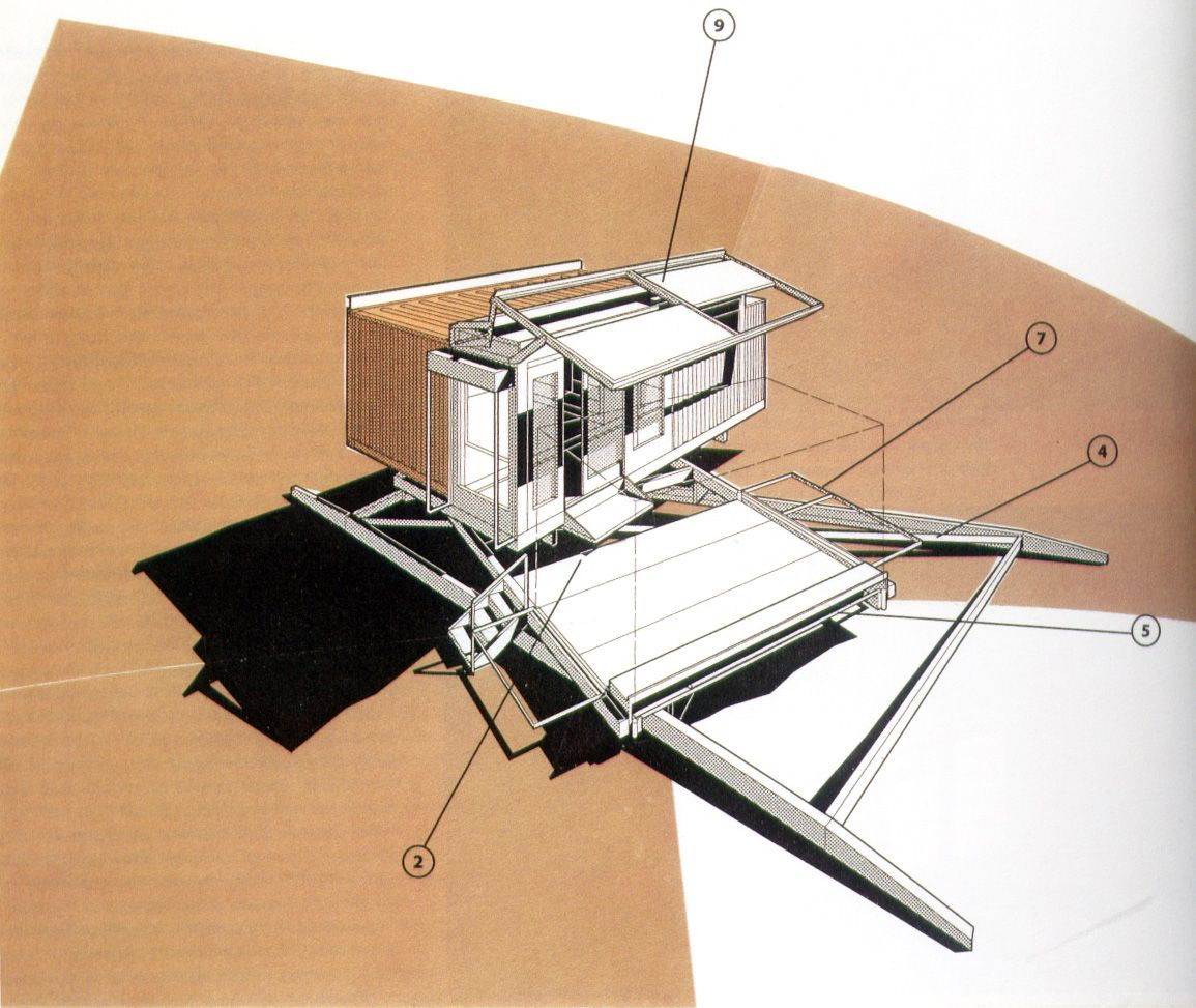Hesslink Guest House, Container House Model. 1994
