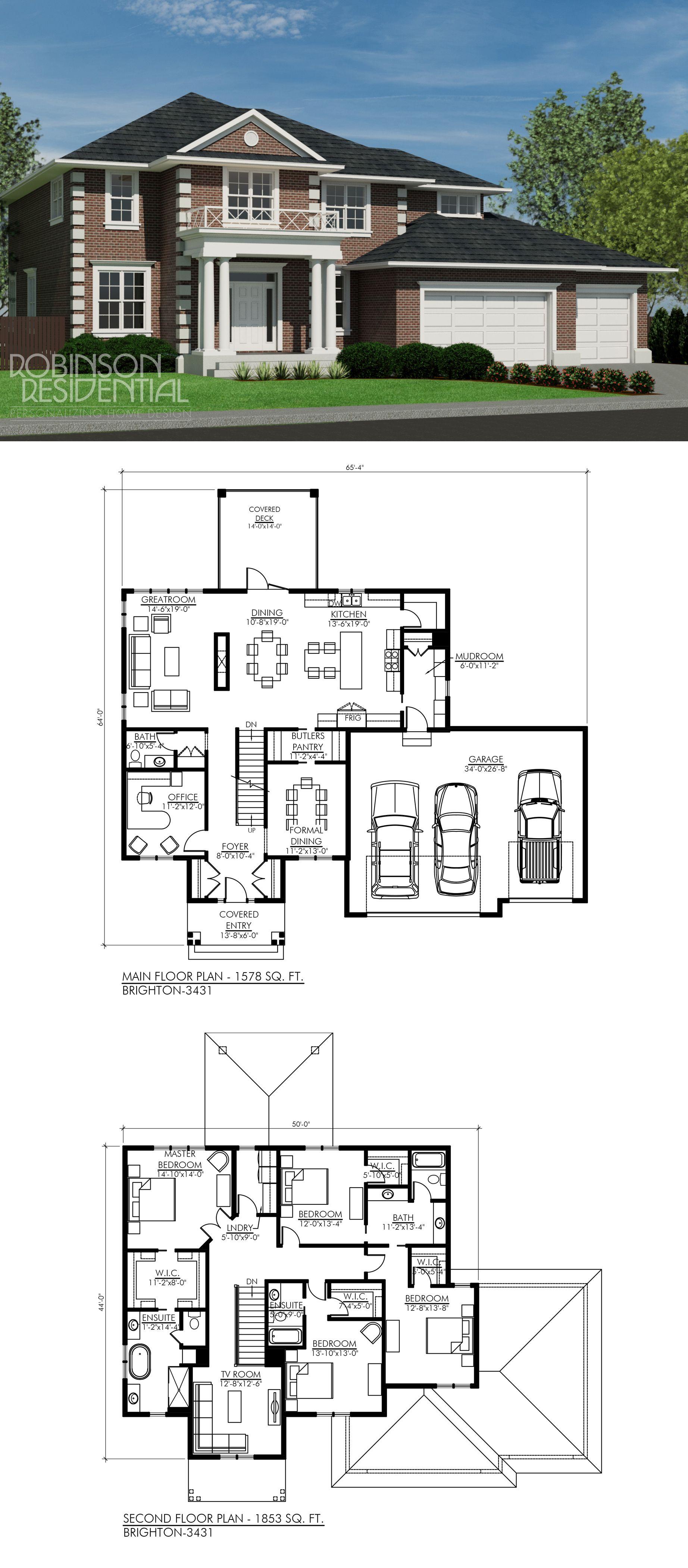 Colonial Brighton-3431 | Grundrisse, Haus ideen und Traumhäuser