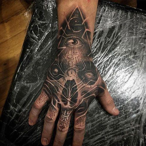 Hand tattoos für männer
