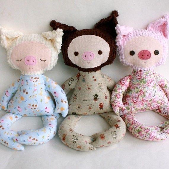 Parker Pig PDF Doll Pattern | Schweinchen, Puppe und Muster
