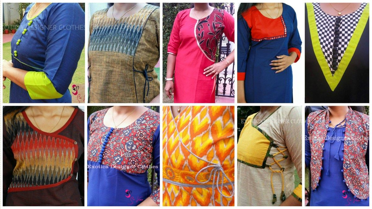 How to make different types of kurthi patterns | Kutha/khamees/long ...
