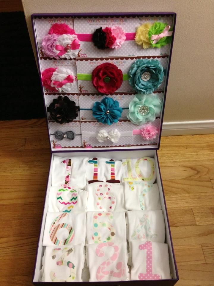 12 months photo idea gift idea baby girl shower gifts
