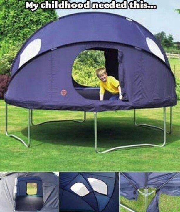 You Always Wanted To Sleep Outside On Your Trampoline, And