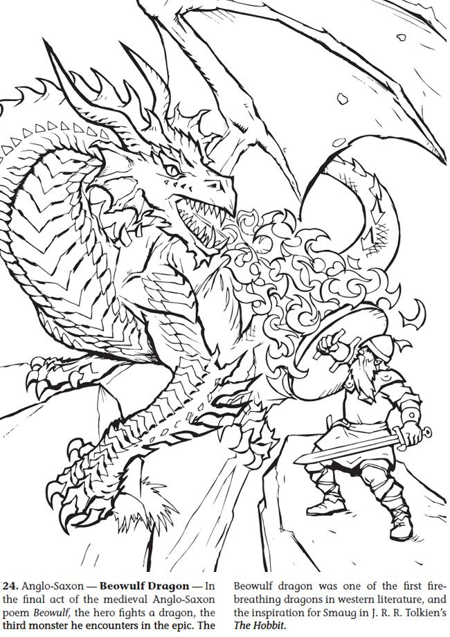 book of dragons coloring pages - photo#29
