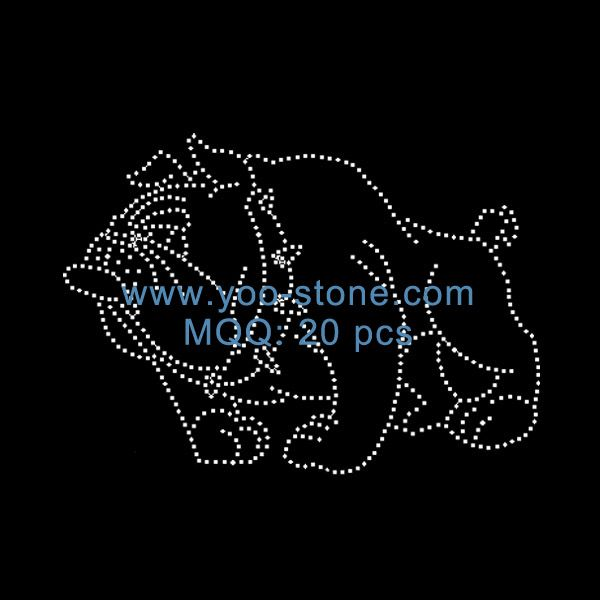 foto de Wholesale Cheap Iron On Bulldog Rhinestone Transfer   Rhinestone ...