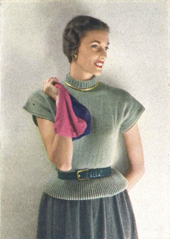 Ruth sweater 1940s knitting knit top ballerina ballet blouse ruth sweater 1940s knitting knit top ballerina ballet blouse shirt 40s vogue vintage pattern bankloansurffo Choice Image