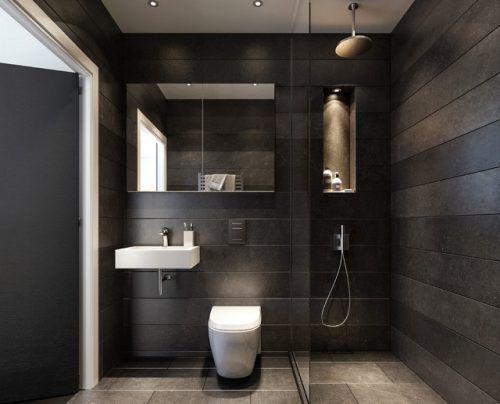Get The Look Modern Minimalism Making Small Bathrooms Beautiful Half Bathroom Half Bathroom Decor Bathroom Decor