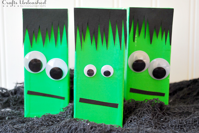 Halloween Box Decorations Halloween Juice Boxes Frankenstein  Crafts Unleashed