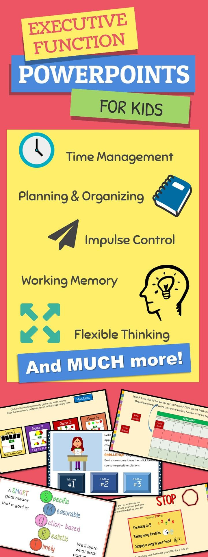 Executive function mega bundle 16 interactive powerpoints extras executive function interactive powerpoint bundle for kids includes time management planning organizing ibookread Download